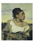 Jeune Orpheline au Cimetiere Reproduction procédé giclée par Eugene Delacroix