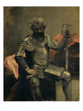 L'Homme a L'Armure, Assis Giclee Print by Jean-Baptiste-Camille Corot