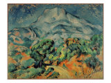 Montagne Sainte Victoire-View from the South West Giclee Print by Paul Cézanne