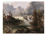 Rocky Mountain Stream Giclee Print by Albert Bierstadt