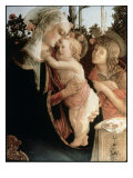 Madonna of the Rosegarden 2 (W/St. John Baptist) Lámina giclée por Botticelli, Sandro