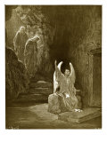 The Angel Seated Upon the Stone Reproduction procédé giclée par Gustave Doré