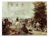 Washington at Battle of Germantown Giclee Print by Alonzo Chappel