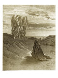 The Lord Appearing Before Abraham Lámina giclée por Gustave Doré
