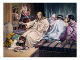 Magdalene Washing Christs Feet Giclee Print by Frank Bernard Dicksee