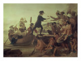 Landing of Roger Williams, 1636 Giclee Print by Alonzo Chappel