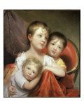 Three Little Faces Giclee Print by Rembrandt Peale