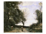 Along the Path Giclee Print by Jean-Baptiste-Camille Corot