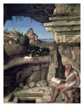 Saint Jerome Reading Giclee Print by Giovanni Bellini