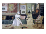 A Friendly Call Premium Giclee Print by William Merritt Chase