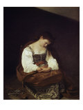 The Repentant Magdalene Giclee Print by Caravaggio