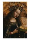 The Virgin- Ghent Altarpiece Giclee Print by Jan van Eyck 