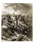 Richard I and Saladin in Battle of Acre, 1191 Giclee Print by Gustave Doré