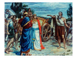 Jezabel and Ahab Meeting Elijah in Naboth's Vineyard Giclee Print by Frank Bernard Dicksee