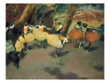 Before the Performance Premium Giclee Print by Edgar Degas