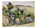 Mountains in Provence Giclee Print by Paul C&#233;zanne
