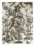 Vision of the Seven Candlesticks Giclee Print by Albrecht Dürer