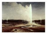 Geysers in Yellowstone Park Giclee Print by Albert Bierstadt