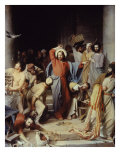 Christ Driving the Money Changers Out of Temple Giclee Print by Carl Bloch