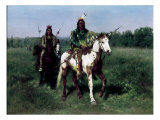Mounted Indians Carrying Spears Giclee Print by Rosa Bonheur