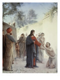 The Man Born Blind Giclee Print by Carl Bloch