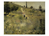 Path Through the Tall Grasses Giclee Print by Pierre-Auguste Renoir