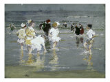 Children on the Beach Giclee Print by Edward Henry Potthast