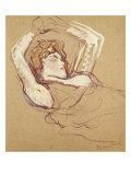 Femme Couchee Sur le Dos Lámina giclée por Henri de Toulouse-Lautrec