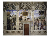 Camera Degli Sposi: West Wall Giclee Print by Andrea Mantegna