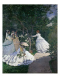 Women in the Garden Reproduction procédé giclée par Claude Monet