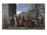 Christ and the Woman Taken in Adultery Giclee Print by Nicolas Poussin