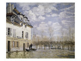 The Boat in the Flood, Port Marly Giclee Print by Alfred Sisley