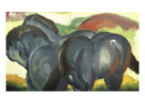 Little Blue Horses Giclee Print by Franz Marc