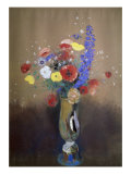 Vase of Flowers from a Field Giclee Print by Odilon Redon
