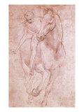Leonardo da Vinci - Horse and Rider - Giclee Baskı