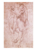 Horse and Rider Giclee Print by Leonardo da Vinci 
