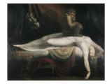 The Nightmare Reproduction proc&#233;d&#233; gicl&#233;e par Henry Fuseli