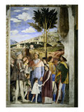 Camera Degli Sposi: The Meeting Giclee Print by Andrea Mantegna