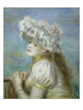 Young Girl in a Lace Hat Giclee Print by Pierre-Auguste Renoir