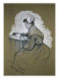 The Authoress of St. Lazare Giclee Print by Henri de Toulouse-Lautrec