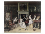 Fantasy Interior with the Family of Jan Van Goyen Giclee Print by Jan Havicksz. Steen