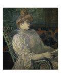 Woman Reading Giclee Print by Henri de Toulouse-Lautrec