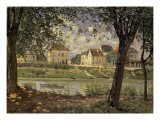 Little Town on the River Seine Giclee Print by Alfred Sisley