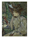 Woman with Gloves Giclee Print by Henri de Toulouse-Lautrec