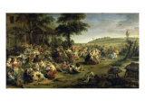 A Village Wedding Giclee Print by Peter Paul Rubens