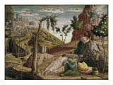 Agony in the Garden (St. Zeno Altarpiece Detail) Premium Giclee Print by Andrea Mantegna