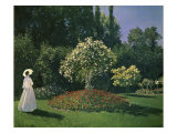 Woman in a Garden Premium Giclee Print by Claude Monet