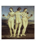 Les trois Grâces Reproduction procédé giclée par  Raphael