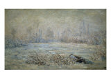Le Givre Pres de Vetheuil Giclee Print by Claude Monet