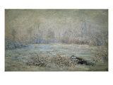 Le Givre Pres de Vetheuil Giclee Print by Claude Monet